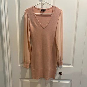 Bebe Pale Pink Sweater Dress Size Medium